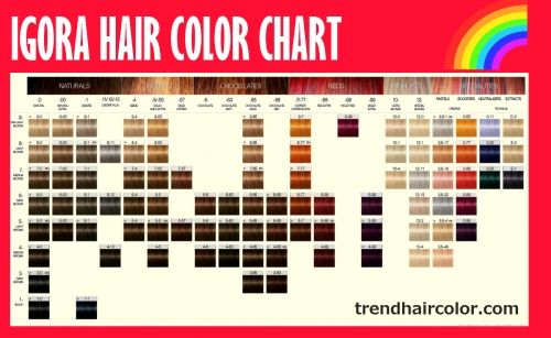 Igora Hair Color Chart Ingredients Instructions Hair Color Chart