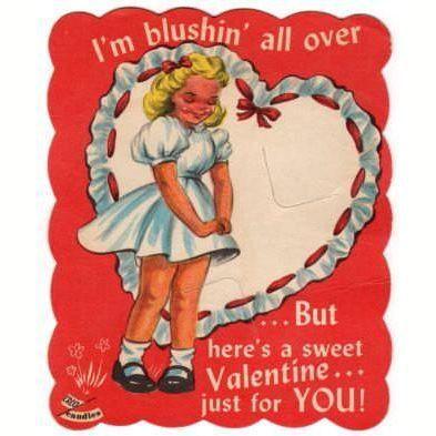Vintage 1950s Sucker Insert Valentine Card Kids Lollipop Candy