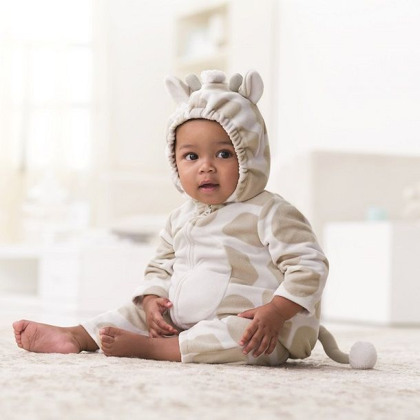 Dress up baby's first Halloween in a 2-piece fleece bubble giraffe costume from Carter's with matching pants. #CartersHalloween