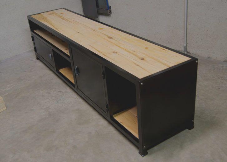 mobilier de salon meuble tv industriel