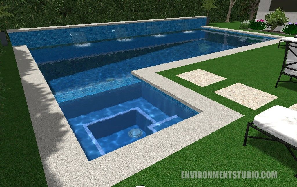 Pool Designs With Spa modern pool cabana designs | pool design & pool ideas