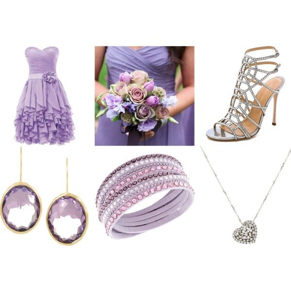 Bridesmaid outfits by liliahubb on Polyvore featuring Sergio Rossi, Ippolita, Rina Limor and Swarovski