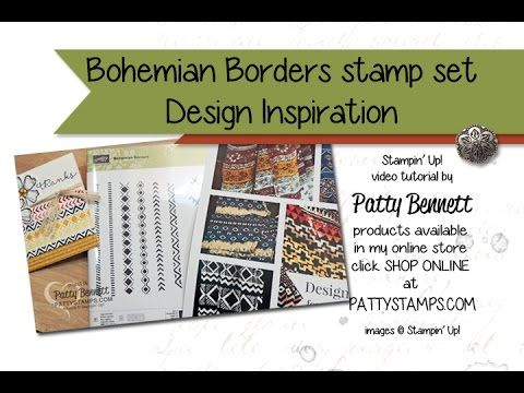 Shopping Inspiration for Bohemian Borders Stamp Set VIDEO - Patty's Stamping Spot - use fabric for your stamping and crafting project inspiration!