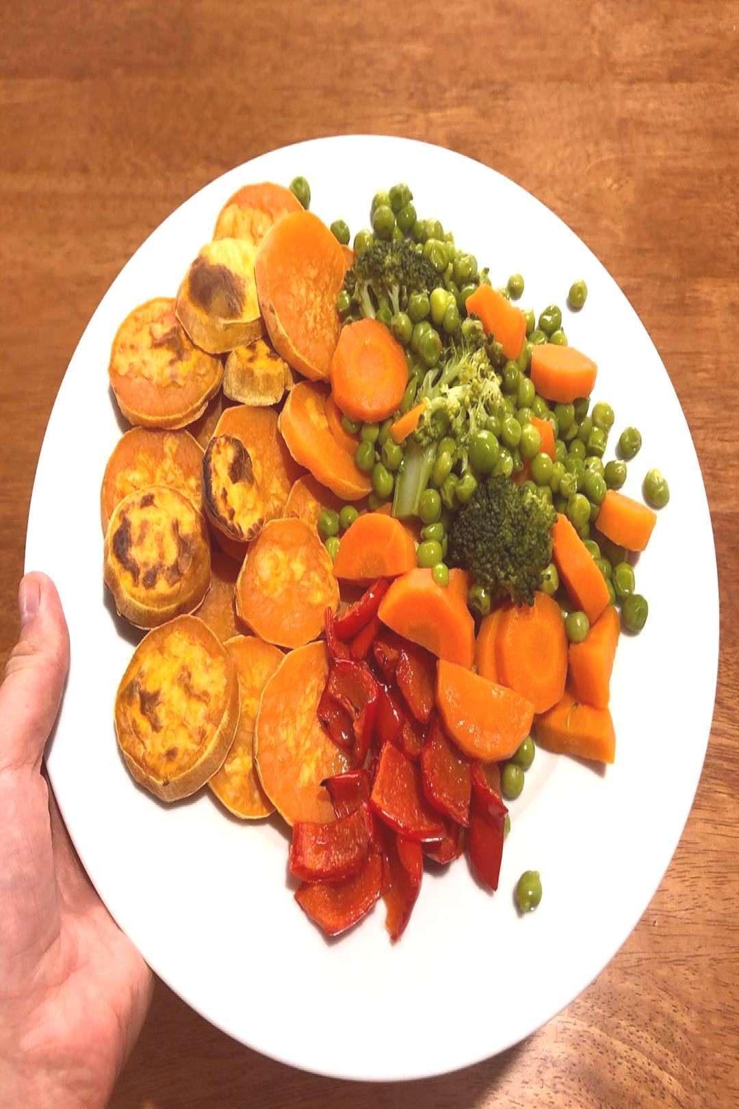 #capsicums #roasted #veggies #dinner #potato #baked #sweet #food #and #red DINNER!! Baked sweet potato , veggies and roasted red capsicums .You can find Vegan dinner and more on our website.DINNER!! Baked sweet potato , veggies and roaste...