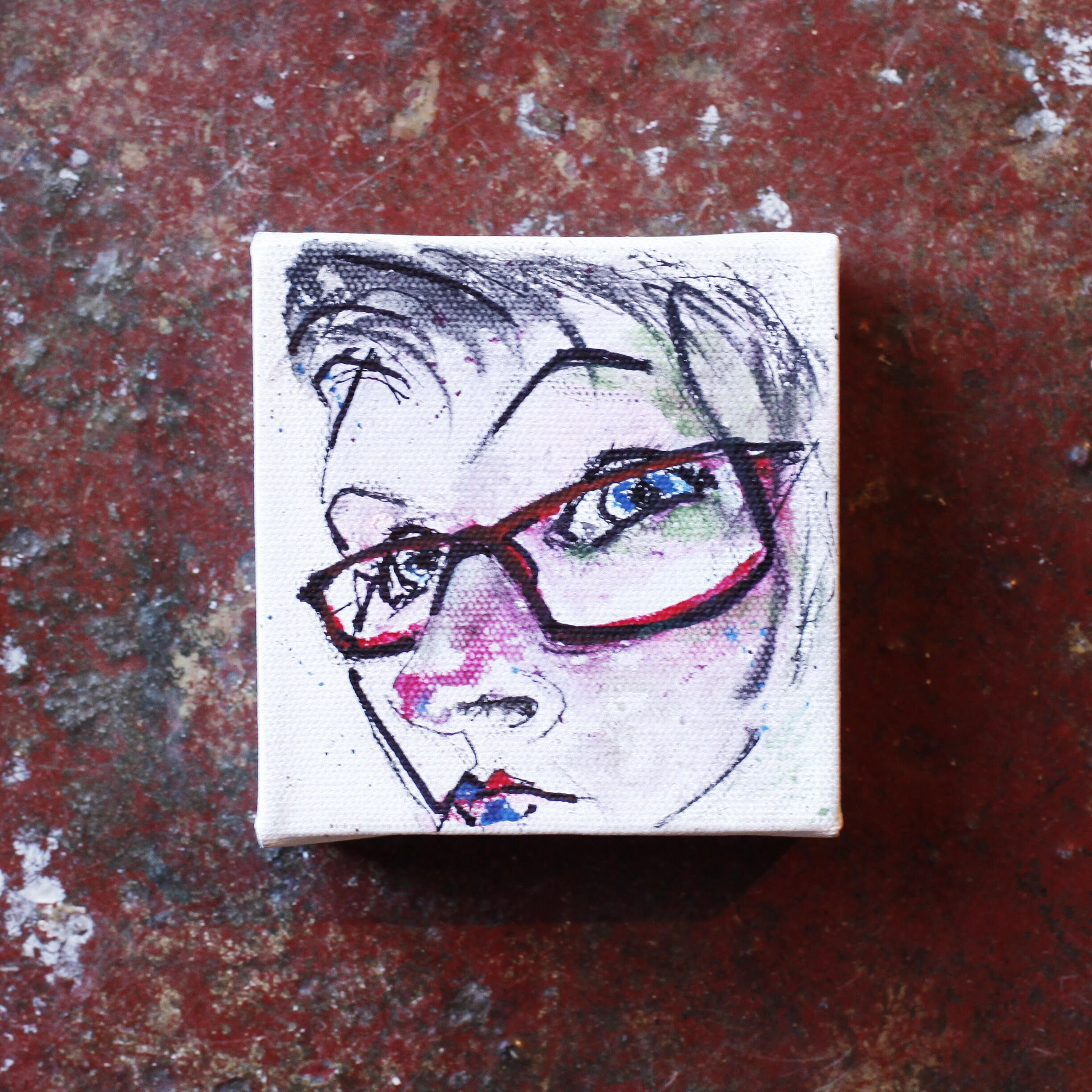 Self portrait by Jane Robson from Australia  Take part in our latest creative challenge, The Pen Pal Painting Exchange: Self Portrait!