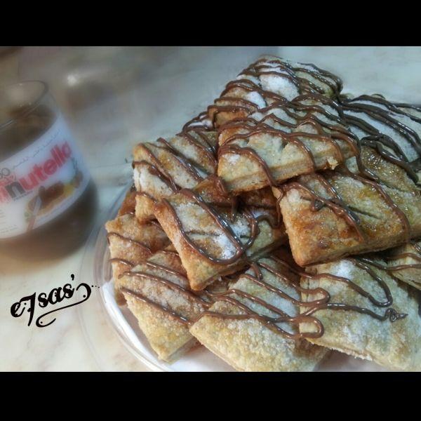 خلال 15 دقيقة فقط حضري أسرع حلى بف باستري بالنوتيلا والطعم أكيد لذيذ تطبيق طبخي طبخات حلويات حلى نوتيلا طبخي Recipes Desserts Breakfast