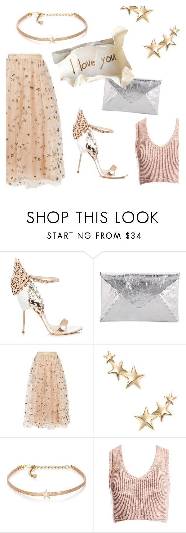 """i love you"" by janesmiley ❤ liked on Polyvore featuring Sophia Webster, Maison Margiela, Valentino, Kenneth Jay Lane and Sans Souci"