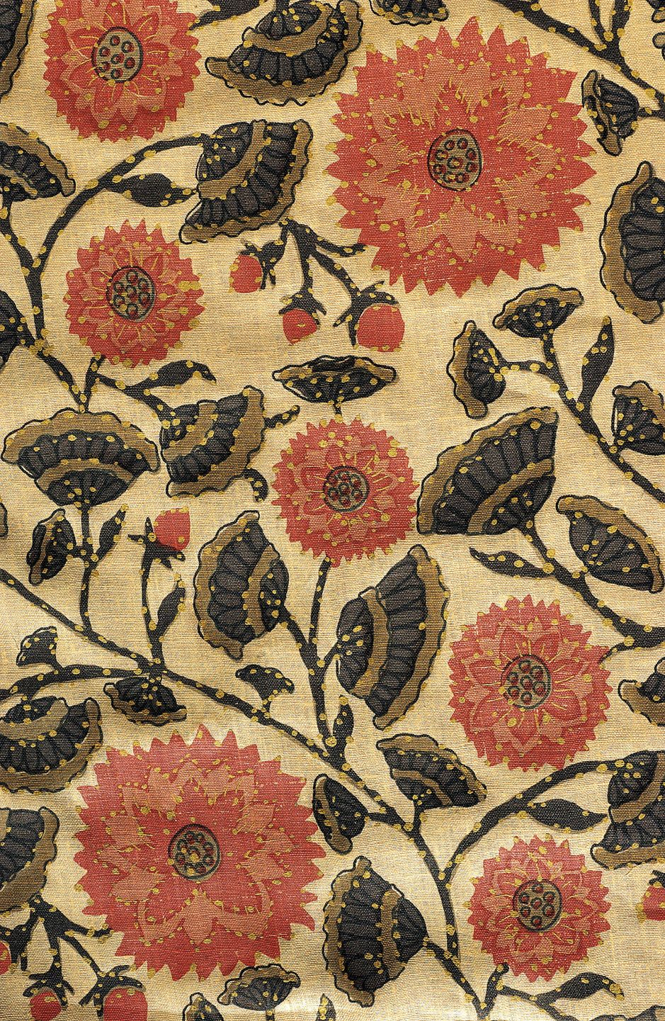 Indian Flower Toile Patterns Of India Textile Patterns