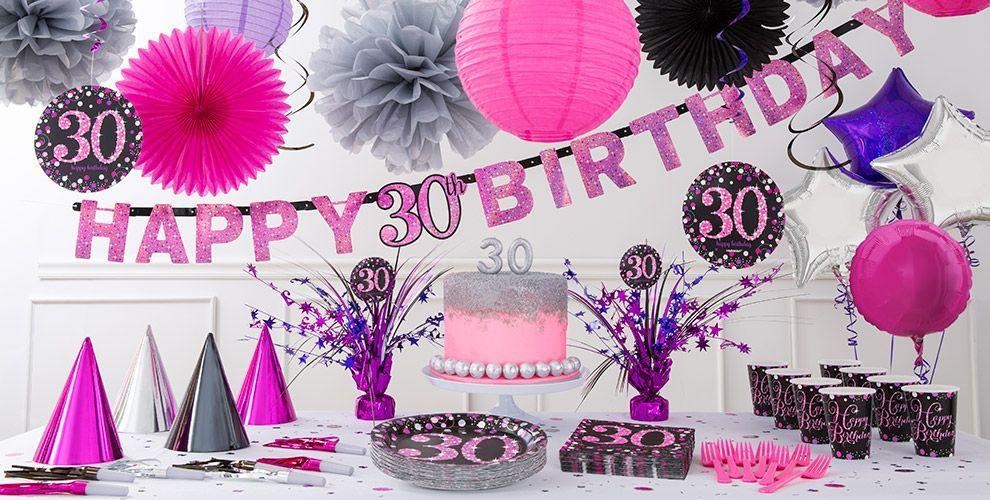 Sparkling Celebration Pink 30 PartyEvent Decor Pinterest 30
