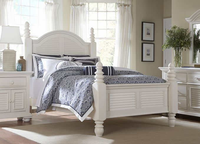 Bedroom Furniture Cottage Retreat Ii King Panel Bed Havertys