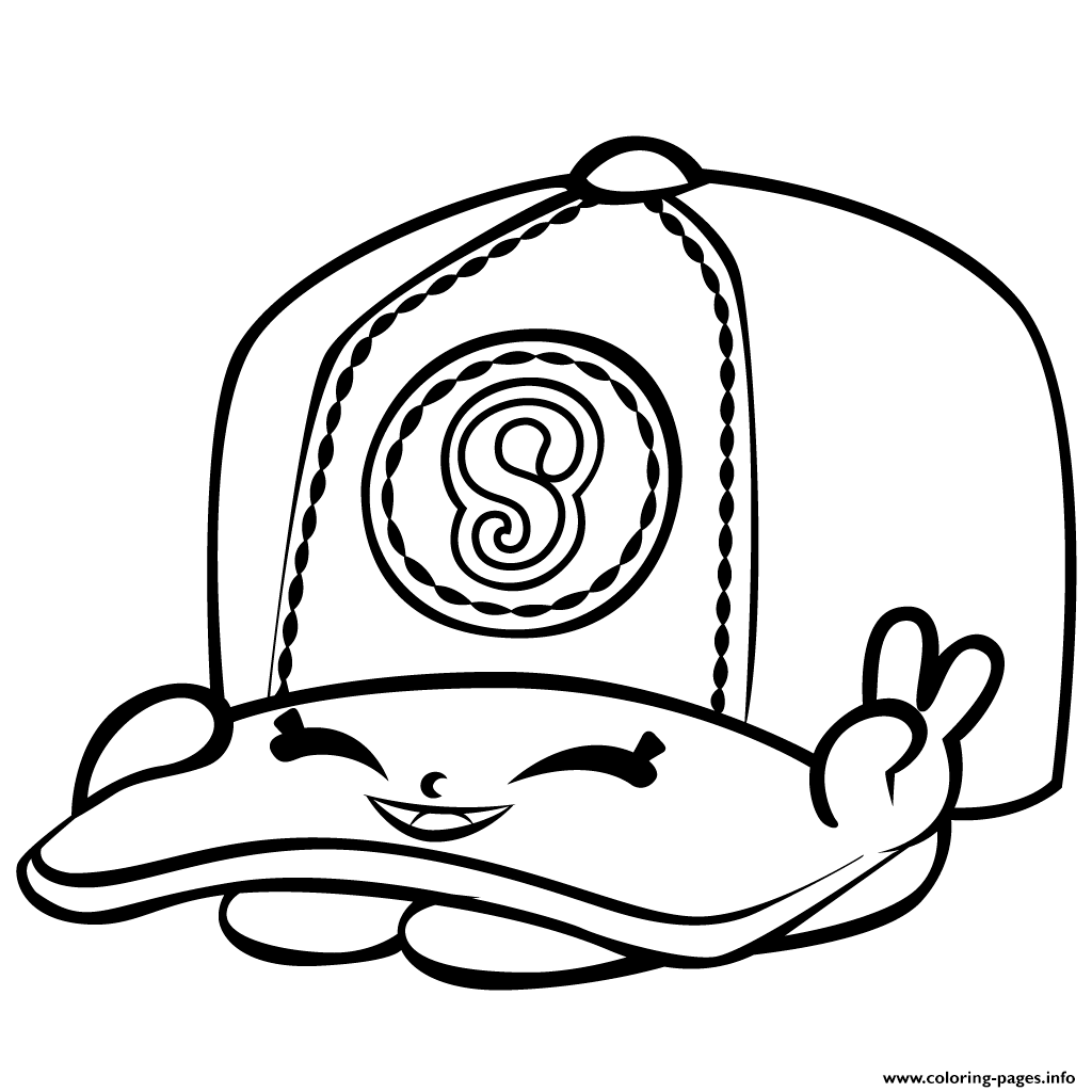 Print Baseball Casper Cap Shopkins Season 3 Coloring Pages