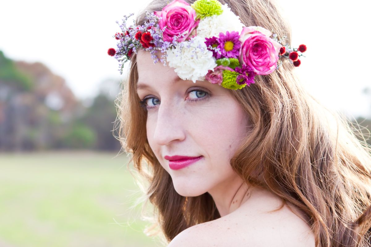 Bridal Floral Head Piece by Fox & Rabbit (With images
