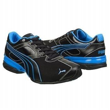 PUMA Men s Tazon 5 Mesh Running Shoe Black Blue Men Shoes All Sizes NIB   NEW  cb76a1b44