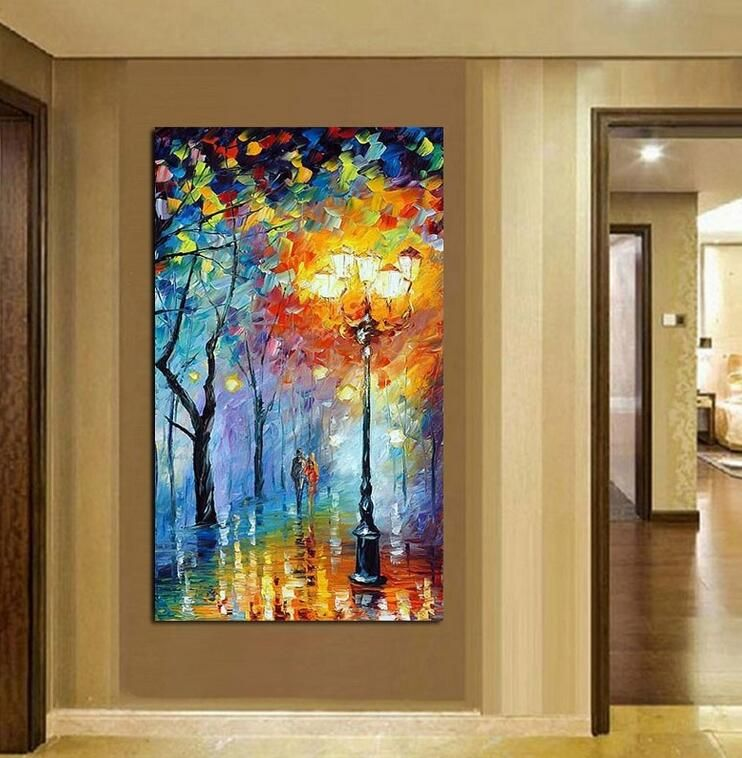 Hand Painted Oil Painting Home