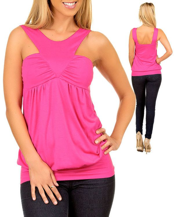 V-neck Tunic Top in Pink