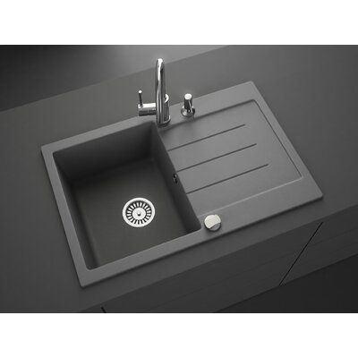 "Lavello Onyx 31"" L x 20"" W Drop-In Kitchen Sink 
