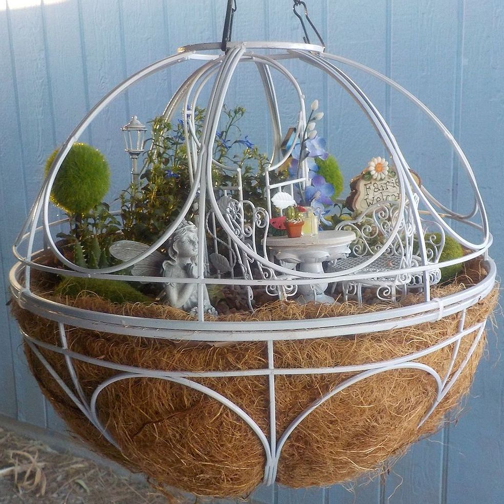 Hanging Basket Ball | Fairy, Gardens and Fairy houses