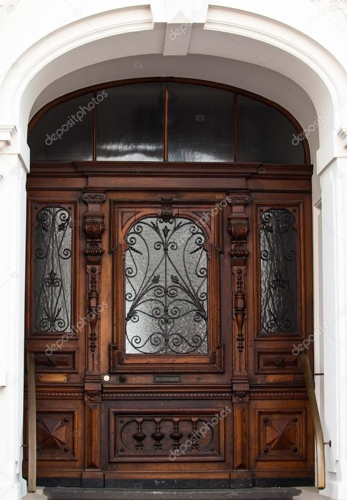Old wooden door – Stock Photo