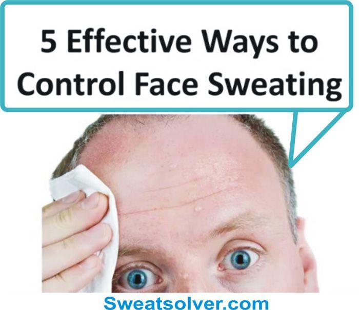 Facial sweating remedies