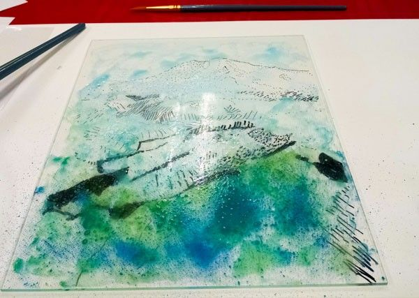 Reverse Painting On Plexiglass Class Watercolor Art Diy