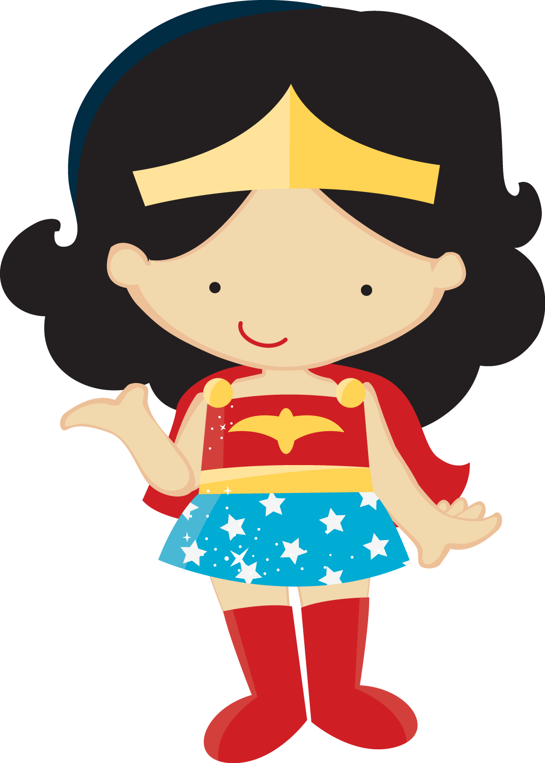 small resolution of girl superhero clipart