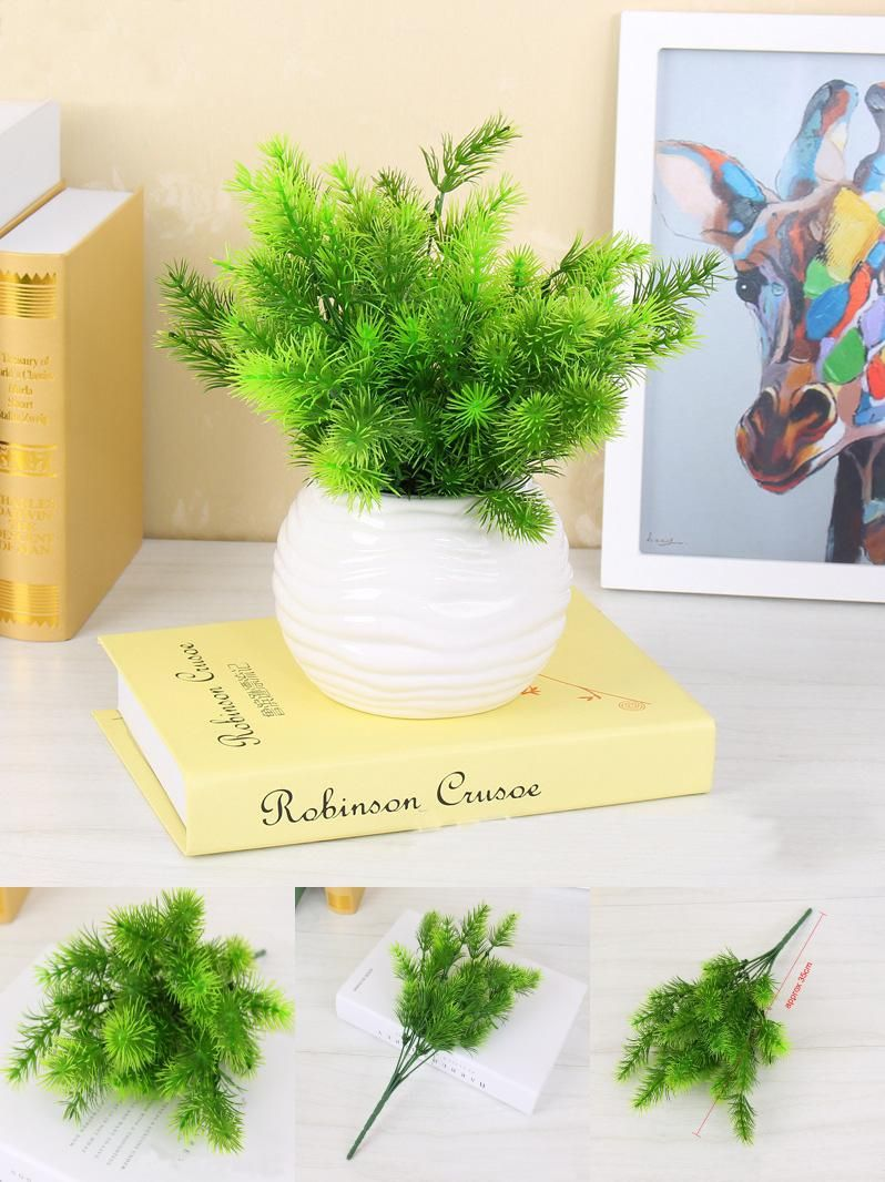 Visit to Buy] 1PC Artificial Plastic Pine Plant Fake Flower Wedding ...