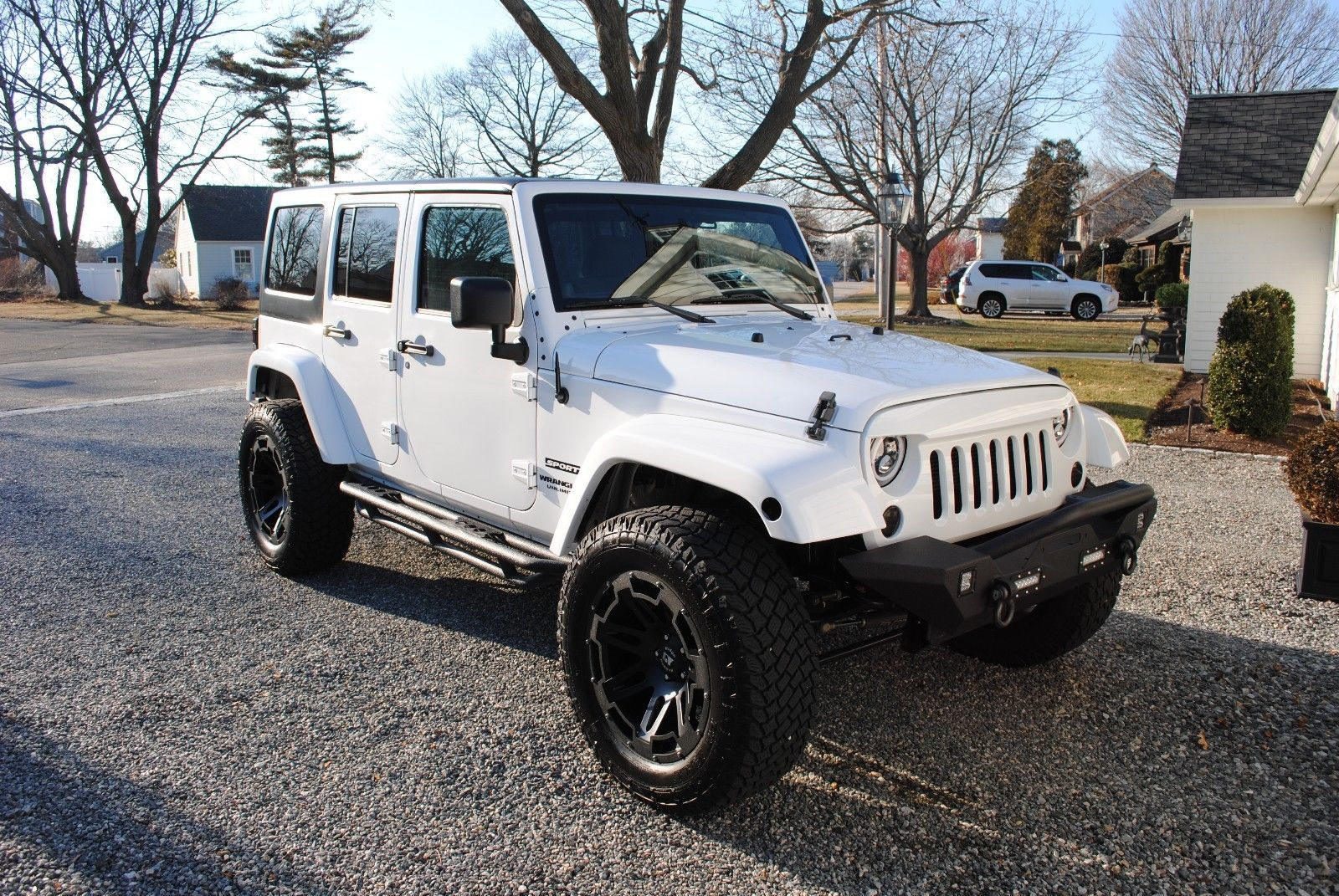 Ebay 2012 Jeep Wrangler Unlimited Sport 2012 Wrangler Jk White Lifted 35 Tires Very Clea Wrangler Unlimited Sport 2012 Jeep Wrangler Jeep Wrangler Unlimited