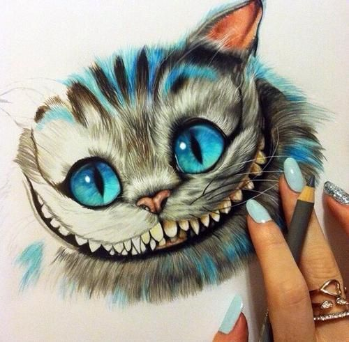 how to draw the cheshire cat from the new alice in wonderland