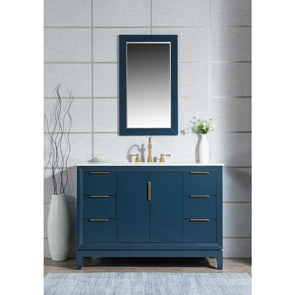 What A Brilliant Choice For A Clean Slate Water Creations Bathroom Vanity And Mirror Combos Add A Level In 2020 Marble Vanity Tops Blue Bathroom Vanity Water Creation