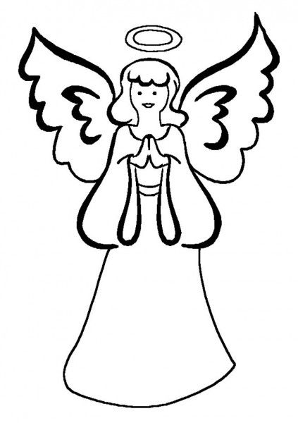 Angel Coloring Pages | Free Coloring Pages | Pinterest | Angel