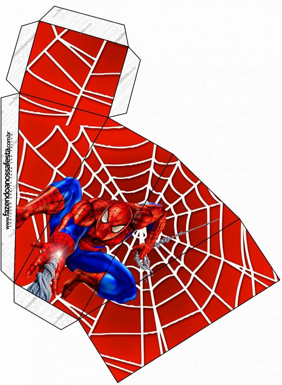 Spiderman: Free Printable Boxes. - Visit to grab an amazing super ...
