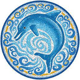 Swimming Pool Floor Art Decorative Designs For Bottom Of Pool Dolphin Art,  Pool Designs,