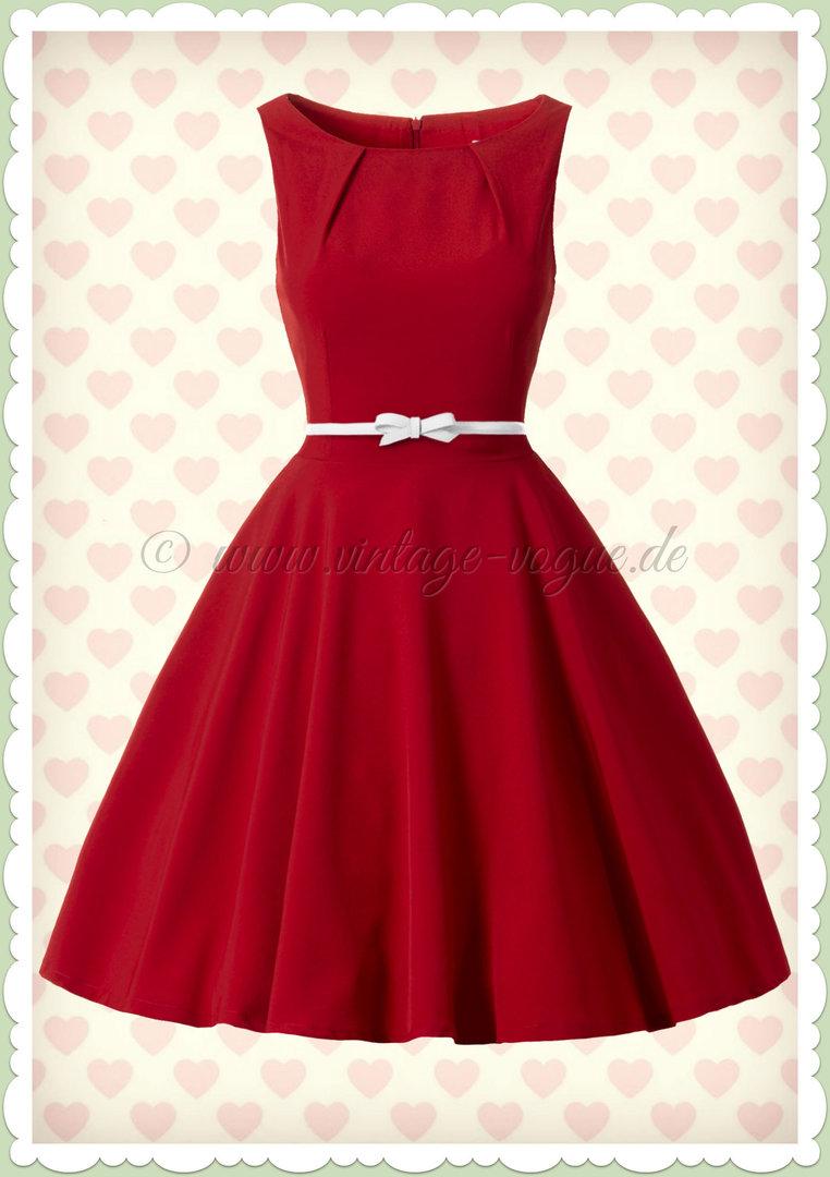 Misfit 14er Jahre Vintage Rockabilly Petticoat Kleid - Elsa - Rot