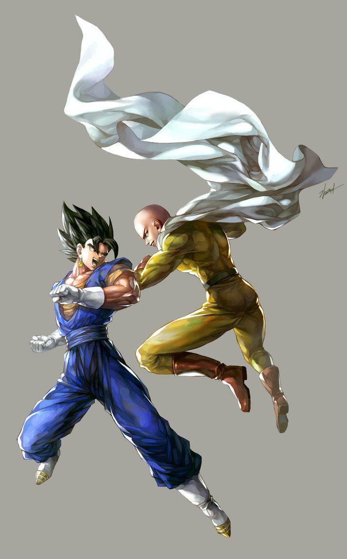 Vegetto Vs Saitama By Goddessmechanic2 On Deviantart One Punch Man Anime Saitama One Punch One Punch Man