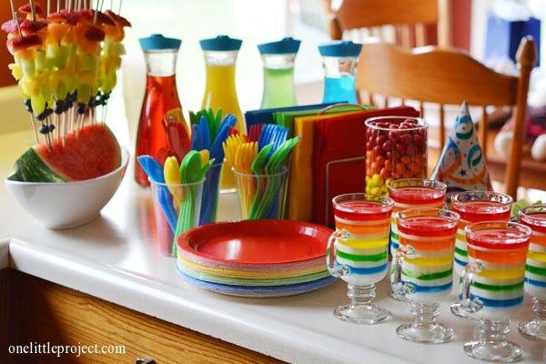 Rainbow Party ideas Chad Pinterest Rainbow parties