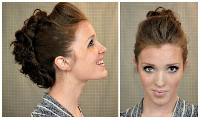 Polished Faux Hawk. Tutorial included. Could add braids on side as needed.