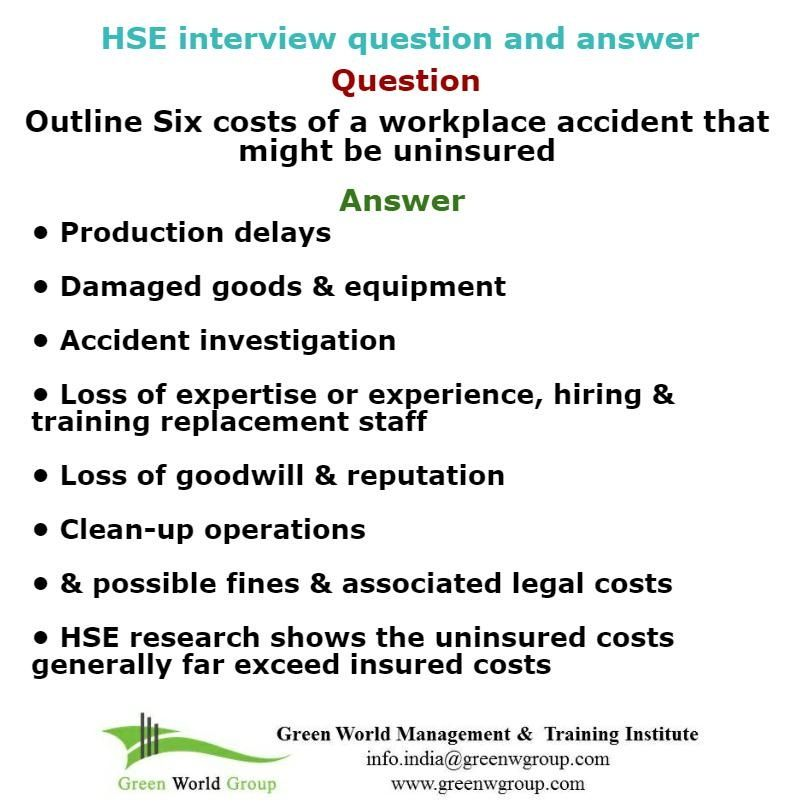 HSE Interview Questions And Answers Greenworldgroup15weebly Home