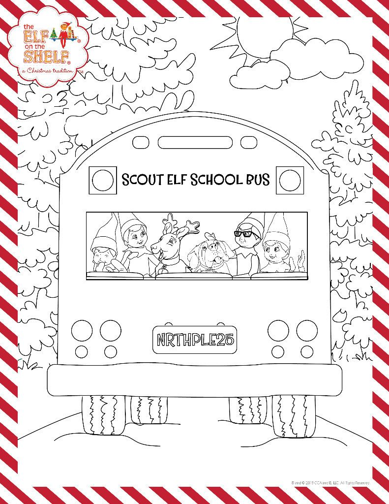 The Elf On The Shelf A Christmas Tradition Elf On The Shelf Kids Christmas Coloring Pages Christmas Coloring Pages
