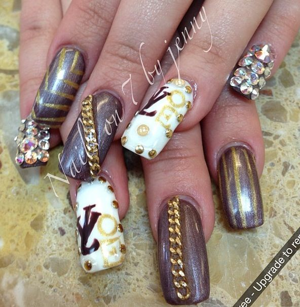 Louis Vuitton Nails Beauty All About The Nails Pinterest