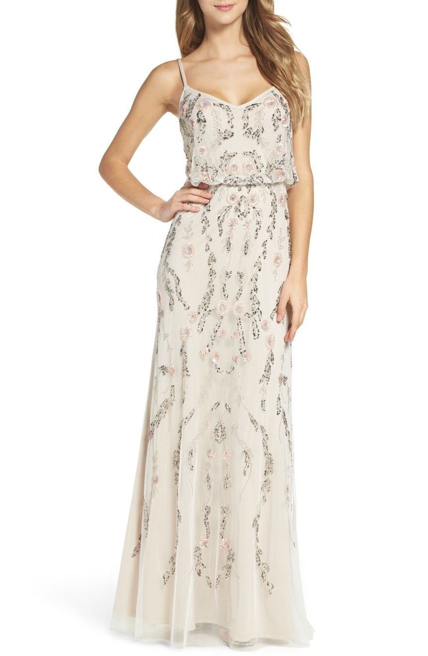 Be Extra Dreamy In This Fluid Floral Themed Gown Alight With Beading Womens Bridesmaid Dresses Formal Dresses For Women Formal Dresses Long