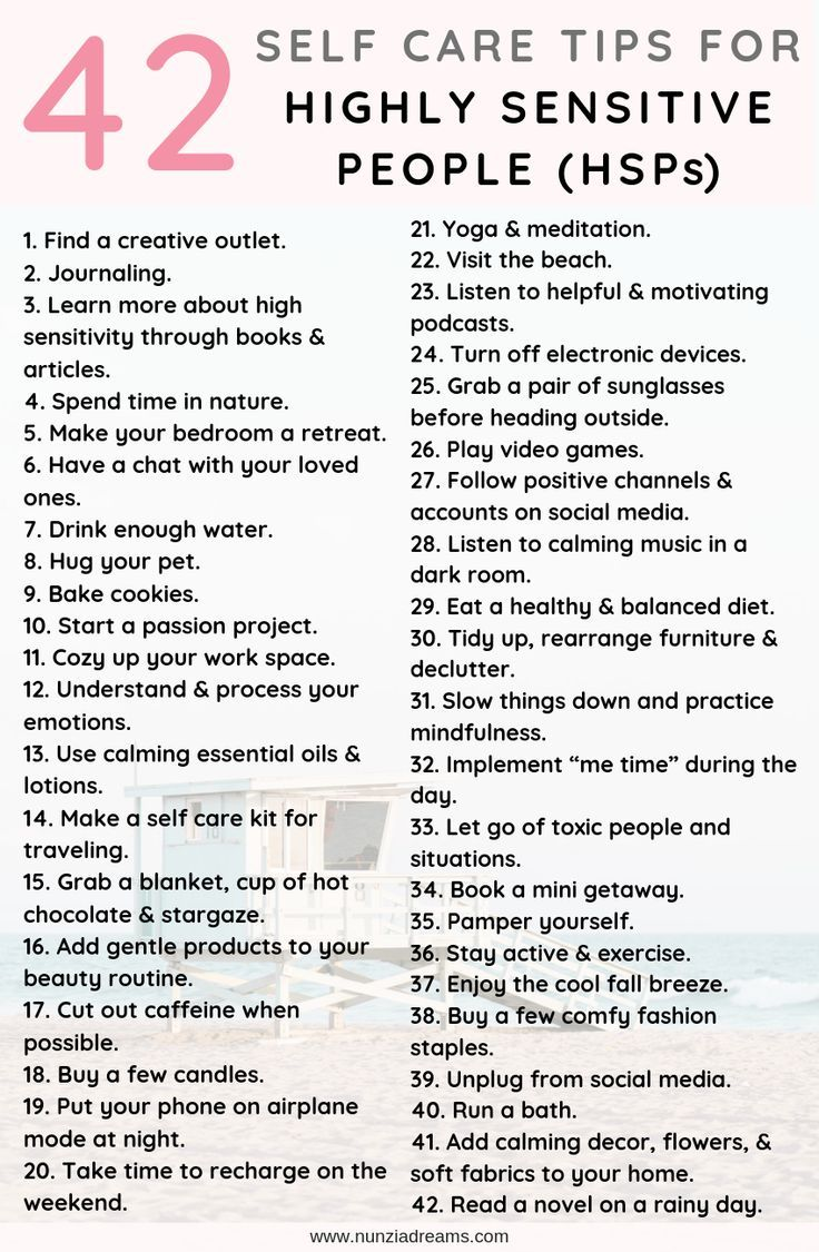 Self Care Guide for Highly Sensitive People | NunziaDreams