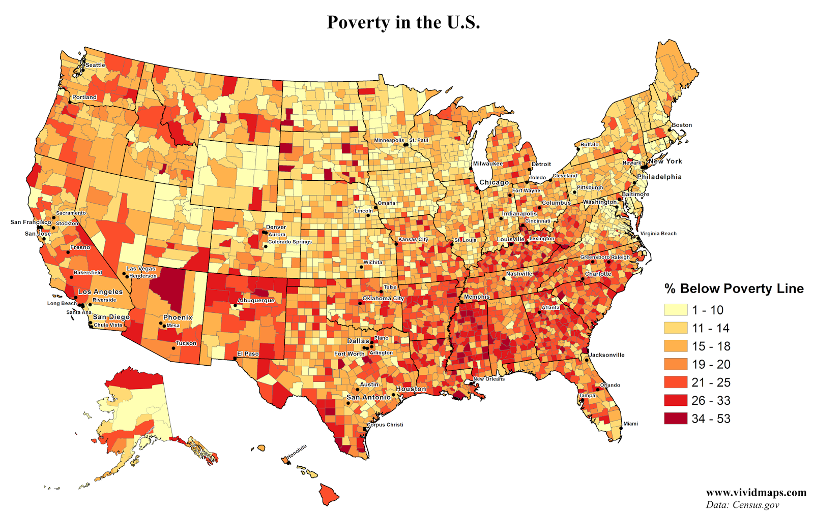 Poverty in the United States | Maps | Pinterest | Map, Interactive ...