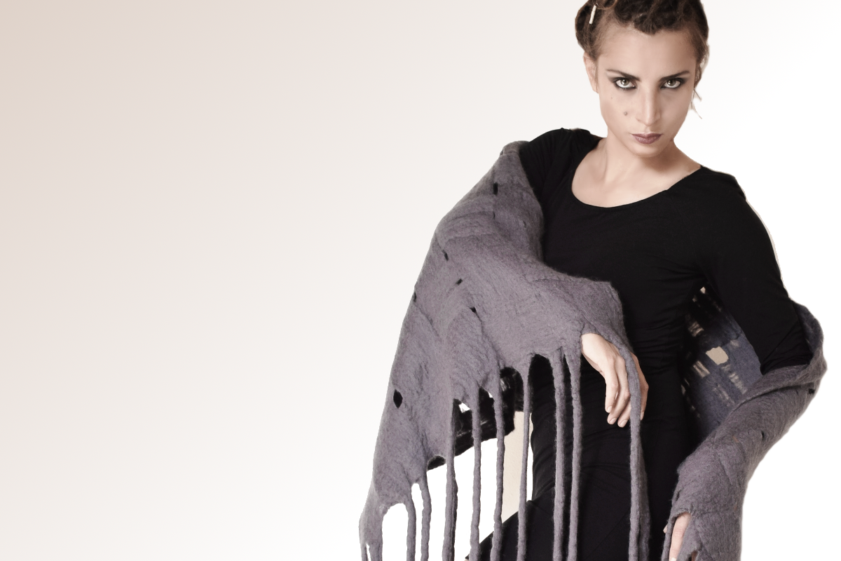 Helena Couture wool scarf