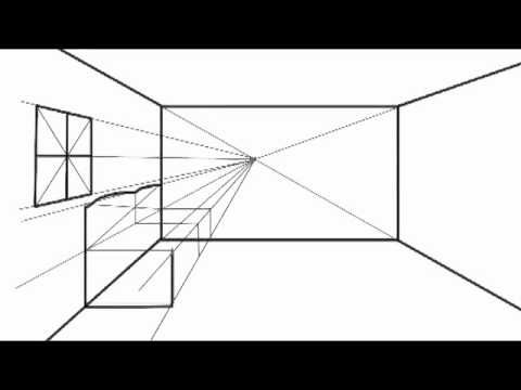 How To Draw In One Point Perspective Option2 One Point