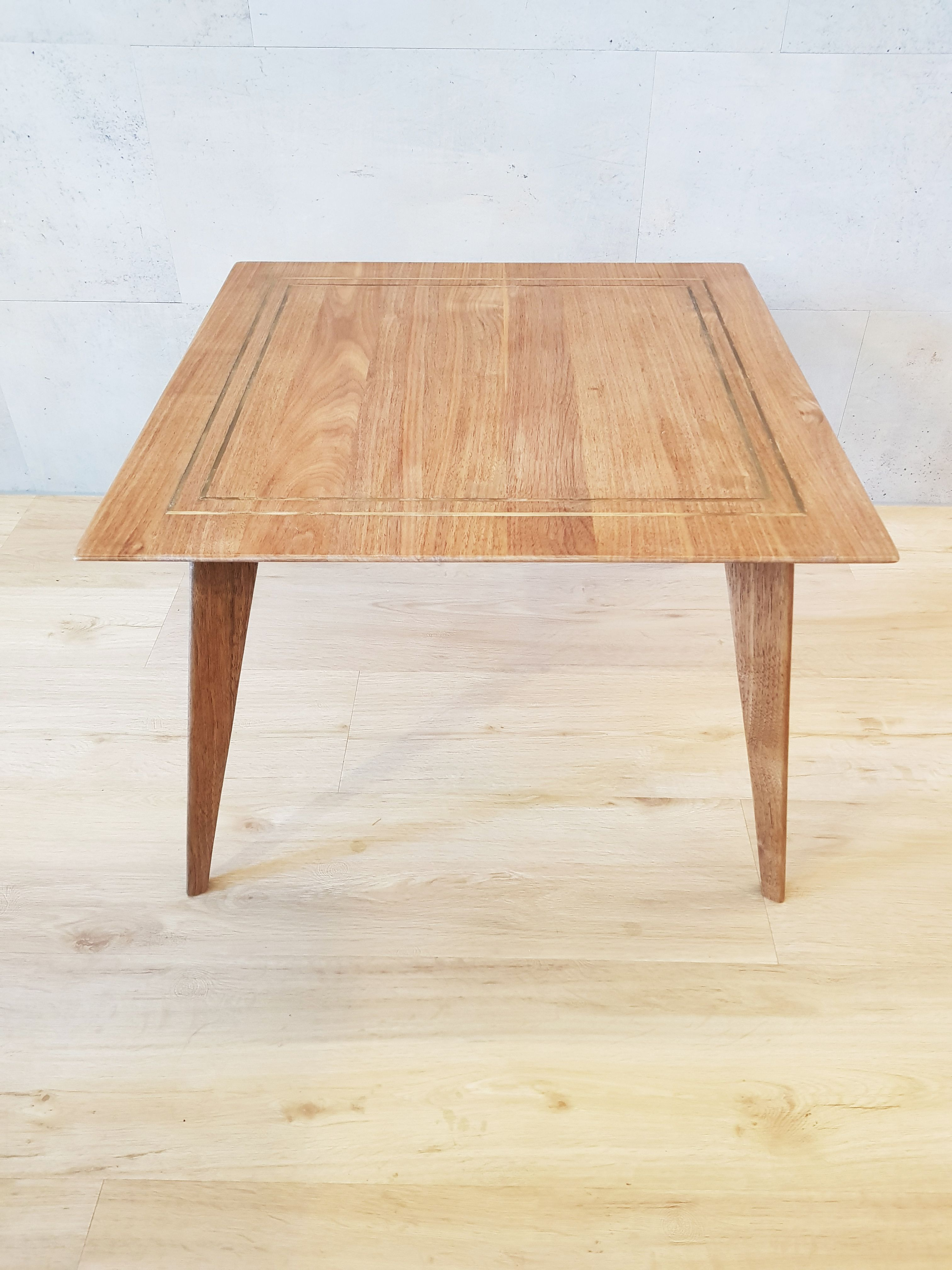 Walnut Side Table By Gupe Clean Straight View Size 60 L X