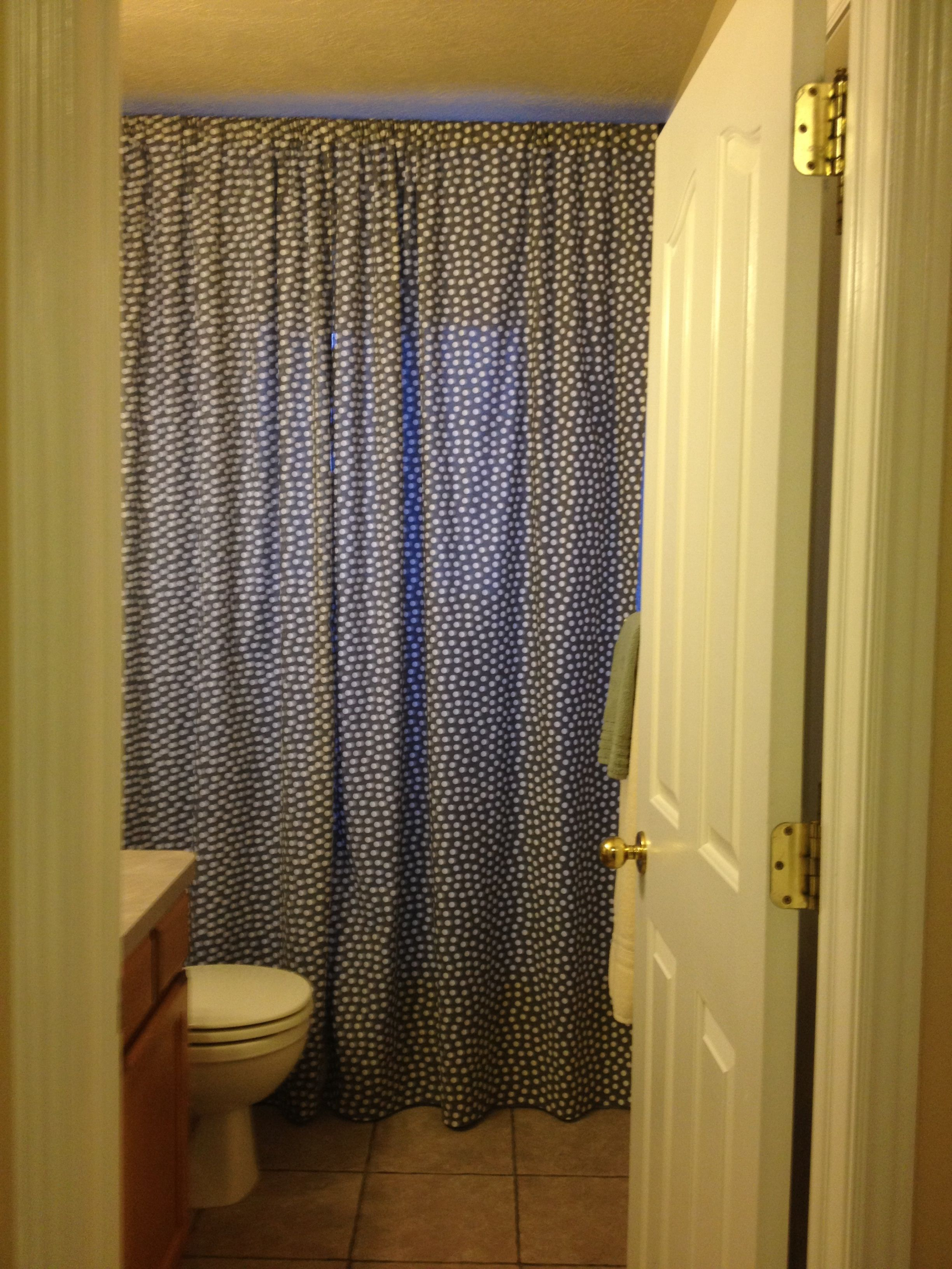 Floor To Ceiling Polka Dot Shower Curtain 35 Liner 84x72 Bed