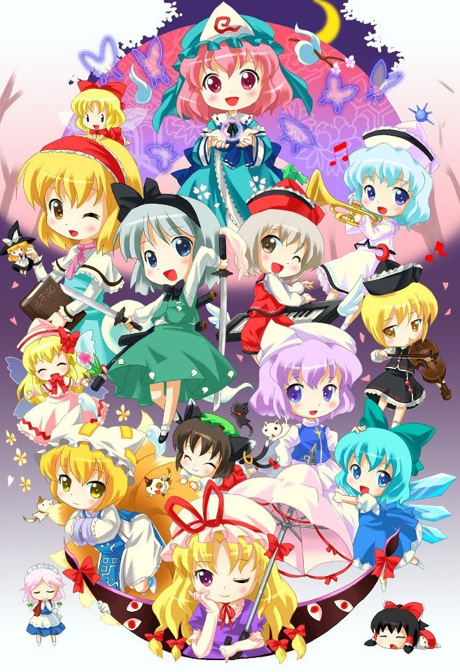 Chibi Touhou Characters. Cute!..Very cute I say Ale007 D