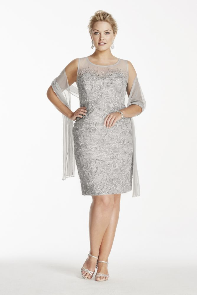 Step Mother of the Bride Plus Size Wedding Dresses