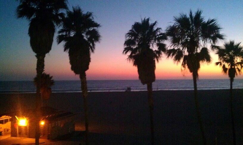 Venice Beach after the sunset.