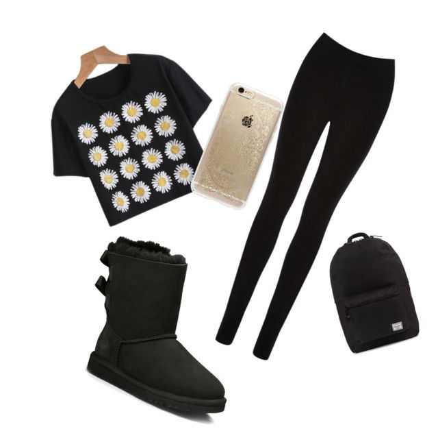 """""""Untitled #25"""" by lolo-smith0707 on Polyvore featuring Oasis, Rifle Paper Co, UGG Australia and Herschel Supply Co."""